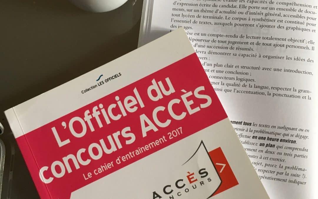 Concours Acces : exemple corrigé d'une synthèse de dossier