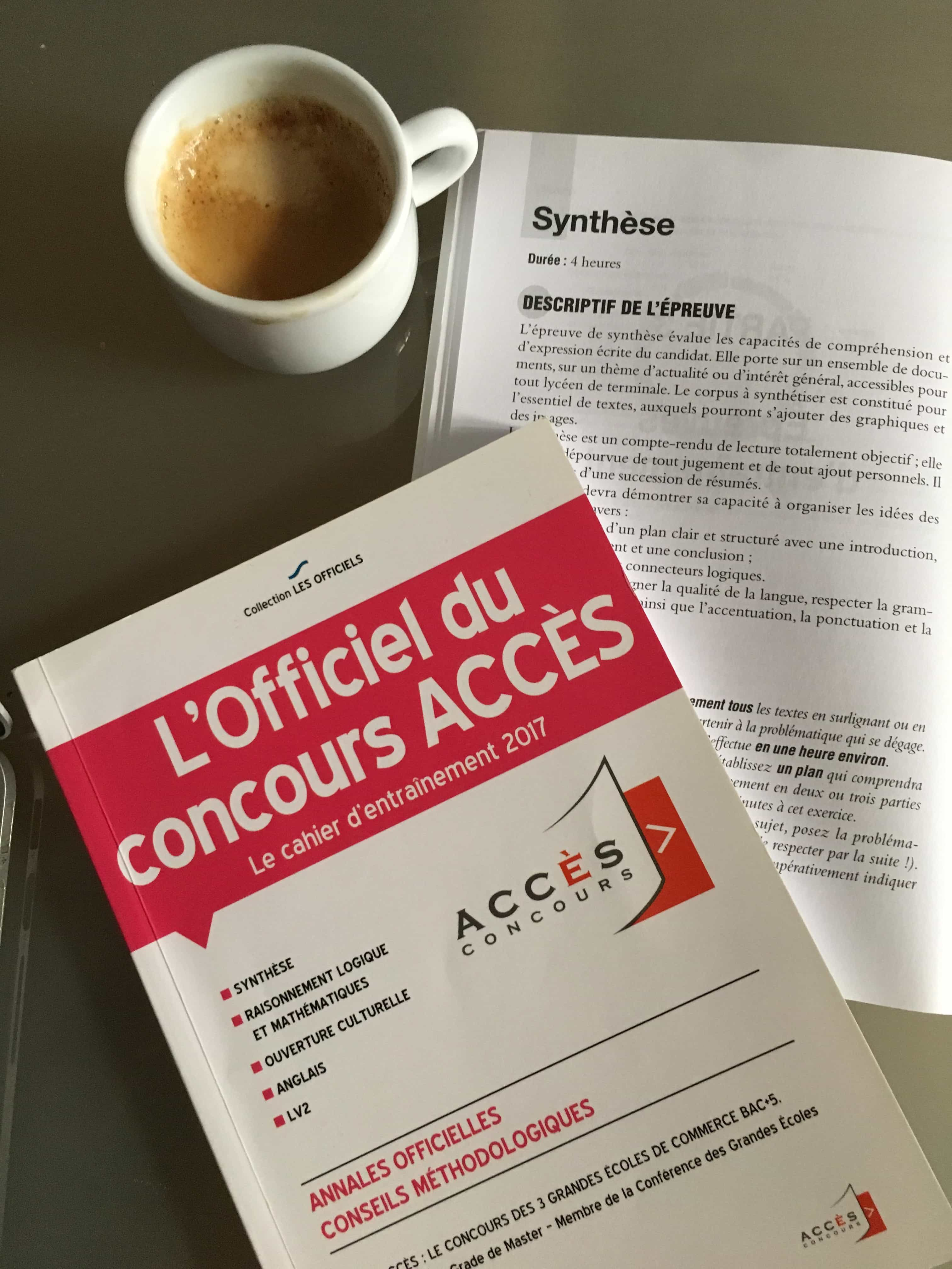 synthèse CONCOURS ACCES