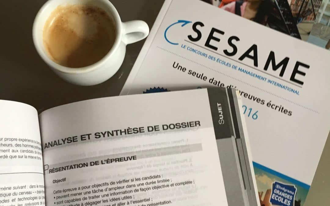 CONCOURS SESAME synthèse