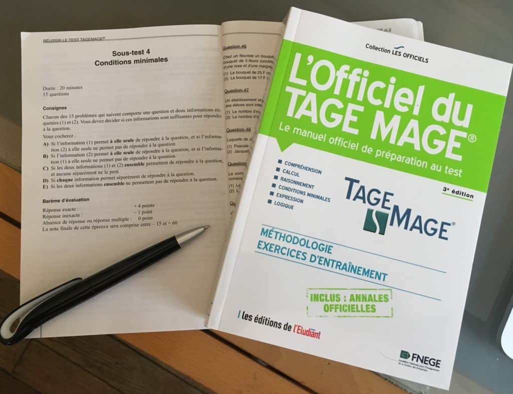 annales tage mage FNEGE